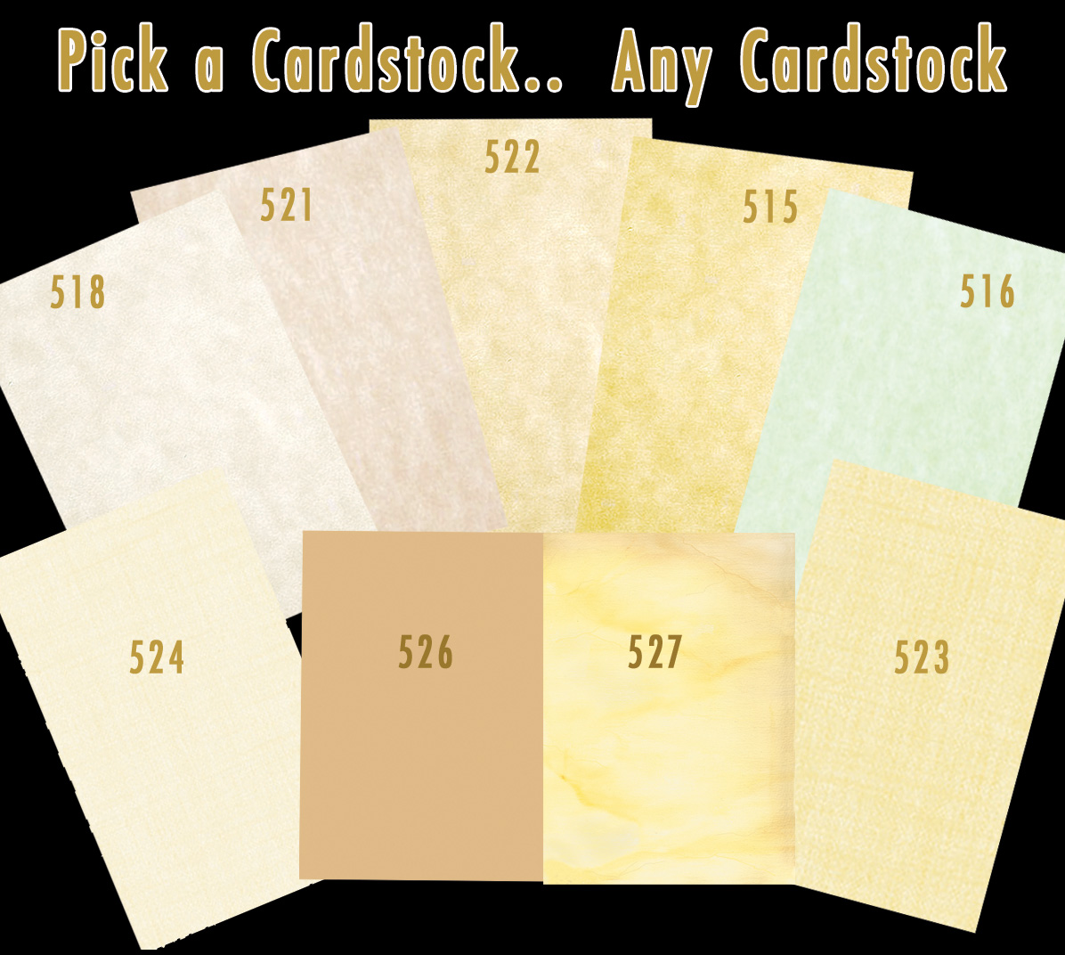 Heavyweight Card Stock Paper